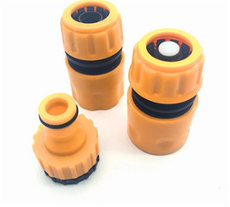 Hose couplings online shopping - Hot Patio Lawn Fast Coupling Adapter Drip Tape Irrigation Hose Connector With quot quot barbed Garden Water Connector Irrigation Tool