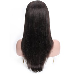 Glueless full lace indian 12 online shopping - Kisshair Pre Plucked Glueless Lace Front Virgin Human Hair Wigs Silky Straight inch Full Lace Wigs for Black Women