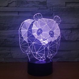 lesser panda usb strange led 3d night light custom panda lovely 7 color change 3d lamp christmas decorations gift for baby room