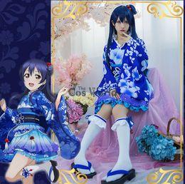 a85d2a0ce884 cosplay costume LoveLive! Love Live Sonoda Umi Summer Festival Kimono  Yukata bathrobe Fancy Dress Uniform Outfit Anime Cosplay Costumes
