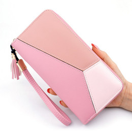 $enCountryForm.capitalKeyWord NZ - Fashion Women Long Wallet Tassel Clutch Patchwork PU Casual Large Capacity Coin Card Cash Holder Purse New Zip Standard Wallet