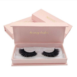 box mink eyelash extensions NZ - Exquisite Pink Box 3D Mink False Eyelashes Natural Long Handmade Soft Eye lashes Extension Thick Crossing Full Strip Lashes