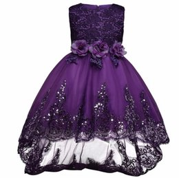 $enCountryForm.capitalKeyWord UK - Nicoevaropa Flower Girls Dresses For Wedding Pageant Dovetail Bridal Gown Teenagers Children Girl Kids Ball Party Wear 4-12Yrs