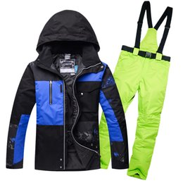 $enCountryForm.capitalKeyWord NZ - 2018 Ski Suit Set Man Jackets Outdoor Sports Snowboarding Suit Clothing Waterproof Windproof -30 Warm Costume Jacket + Pant