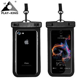 Playing Swim impermeabile sacchetto del telefono sacchetto del cellulare asciutto con custodia a tracolla per Iphone 8 Plus 7 7P 6 6s Xiaomi Samsung 6 pollici di nuoto in Offerta