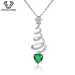 Shop created emerald jewelry uk created emerald jewelry free double r real solid 925 sterling silver necklaces for women sterling silver jewelry classic created emerald pendants aloadofball Image collections