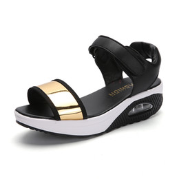 Woman sWing sandals online shopping - Height Increasing Shoes Women s Open Toe Platforms Sandals Summer Soft Walking Sports Sandals Wedges Swing Shoes