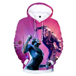 Chinese  Men Women Clothes Fortnight Night 3D Color Printing Shadow Assassin Hooded Sweatshirts Hip Hop Tops Fashion Wear Hot Selling manufacturers