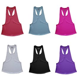 China Gym Sports Shirt Yoga Tops Sleeveless Vest Fitness Workout Tops Women Quick Dry Tank Sportswear Gym Clothing cheap order wholesale clothing suppliers