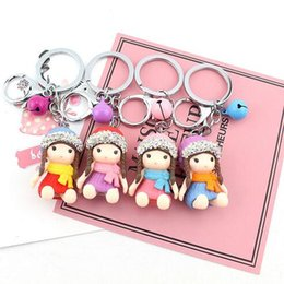 $enCountryForm.capitalKeyWord Australia - Spot Drill Little Girl Bell key Ring Party Favor High Quality Doll key Ring Small Activity Gift