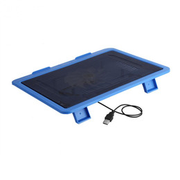 cooling pad stand UK - Under 14 inch Laptop Cooler Cooling Pad Base Big Fan USB with Holder Stand Free Shipping