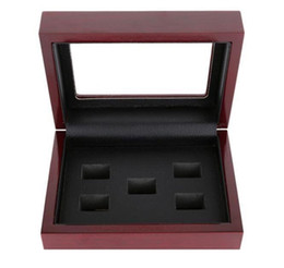 China Wooden Box Championship Ring Display Case Wooden Boxs For Ring 2 3 4 5 6 Holes To Choose Rings and Collection Free Shipping cheap wood suppliers