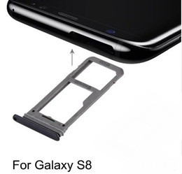 iphone repair accessories 2019 - New for For Galaxy S8 S9 J7 SIM Card Tray Slot Holder SD Card Tray Sim Card Adapter Repair, replacement, accessories che