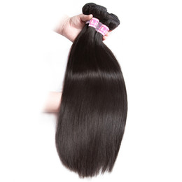 Wholesale Hair Extensions Brazilian Straight Hair Black Soft Hair End Without Any Split Full Thick End