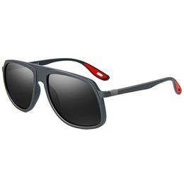 Sun Plastic Coating UK - Vintage Polarized Oversized Sunglasses Men Plastic Titanium Frame Classic Brand Sun glasses Coating Lens Driving Shades UV400