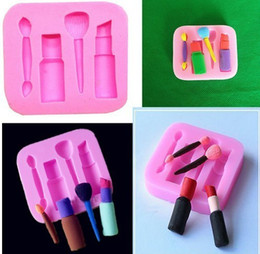 cake lipstick Canada - Lipstick Eyebrow Pencil Blusher Brush Cosmetics Silica Gel Search Sugar Model Baking tools for cakes Mould silicone mold