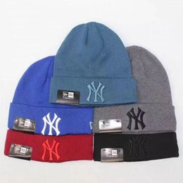64b21fb9f54 NY Hats Boys   Girls Beanies Unisex Autumn Winter Hat Travel Sports Knitted  Caps Ski Caps 6 Colors in Stock