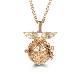 $enCountryForm.capitalKeyWord Australia - Round Hollow Wings Perfume Oil Diffuser Necklace Pregnant Women Melody Beads Pendants Lockets 2018 New Fashion Jewelry Accessories Wholesale