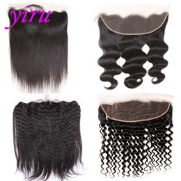 Chinese  Brazilian Virgin Hair 13 X 4 Lace Frontal With Baby Hair Pre Plucked Ear To Ear Body Wave Straight Hair Kinky Straight Deep Wave manufacturers