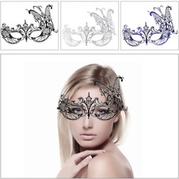 $enCountryForm.capitalKeyWord NZ - 1pcs Half Face Butterfly Mask Halloween Lace Metal Masquerade mask with Rhinestones Venetian Party Masks For Woman Lady Disco Ball Christmas