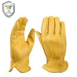 $enCountryForm.capitalKeyWord Australia - OZERO New Men's Work Gloves Deerskin Leather Security Protection Safety Workers Working Welding Warm Gloves For Men 8002 S1025