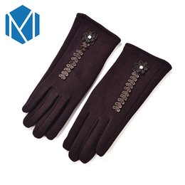 4cee58f56 Wrist Warmers Cotton UK - 2018 Women Elegant Winter Warm Mittens Screen Gloves  Female Soft Wrist