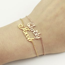 Name Plate Jewelry Sets Australia - Custom Jewelry Personalized Name Bracelet For Women Gold Pulseira Masculina Charm Bracelet Armbanden Voor Vrouwen Christmas Gift