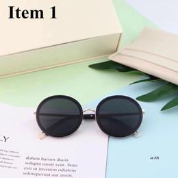 245d1c841554 Korean Gentle Women Men unisex luxury brand Fashion round Sunglasses Oval  Frame Sun Glasses Metal Temple UV Protection monster MOD 028 HF