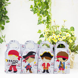 kids pirate party decorations 2019 - Pirate Favor Candy Gift Box Cupcake Box Boy Kids Birthday Party Supplies Decoration Event Party Supplies cheap kids pira