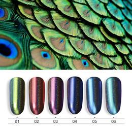 $enCountryForm.capitalKeyWord Australia - COSCELIA 0.2g Peacock Holographic Chameleon Nail Glitter Powder Mirror Holo Laser Chrome Pigment Manicure Nail Art Decorations