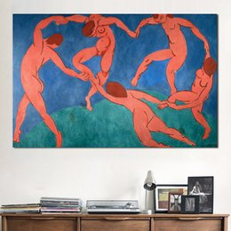 $enCountryForm.capitalKeyWord NZ - JQHYART Artist Matisse Classic Dance Art Oil Painting Print On Canvas Modern Bule Wall Pictures For Living Room, Home Decor
