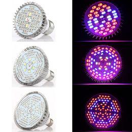 30W 50W 80W PAR38 E27 LED Grow Light Grow Lampadine Lampada per piante da interno Giardino Serra Idroponica Piante Full Spectrum AC 85-265V