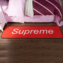 Wholesale 2019 black Multi Function Mat Letter Carpet Bedroom Kitchen Bathroom Non slip Crystal Suede with Smiley Carpet cm