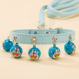 Small Traction Belts Canada - Cute Bell Dog Collar Pet Traction Rope Mini Dog Traction Belt Teddy Chain