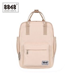 8848 Brand Backpack For Women Schoolbags For College Student Waterproof  Oxford Fashion Light Pink Solid Knapsack 003-008-001 09cbb2f62b548