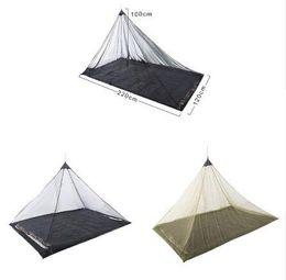$enCountryForm.capitalKeyWord Australia - 2 Colors 2.2*1.2m Single Layer Gauze Mosquito Net Tents Outdoor Camping Portable Mesh Tent Pyramid Shape Tents Garden Decor CCA11515 10pcs
