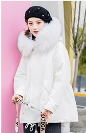 black red hooded cloak Canada - 2018 fashion popular Korean version of the long section thick large fur collar cloak type hooded down jacket