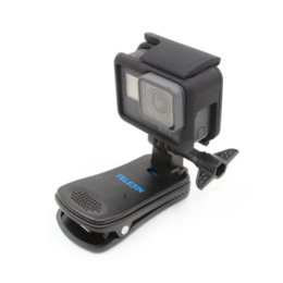 Fast Backpack Canada - TELESIN Quik Release 360 Rotary Backpack Clip Clamp Rec-mounts Fast Hat Clip Mount for GoPro Hero 6 Hero 5 4 3 2