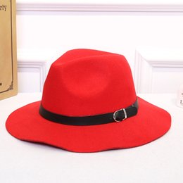 2018 Fashion Winter Women Classic Vintage Jazz Ladies Buckle Fedoras Bucket  Casual Cotton British Style Outdoor Caps Top Hats 1f553bb1480d