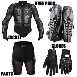 Nylon Racing Motorcycle Jacket Australia - Sport Racing Skiing Drop Resistance Racing Motorcycle Full Body Armor Jackets +Racing Shorts +Knee Pads +Gloves