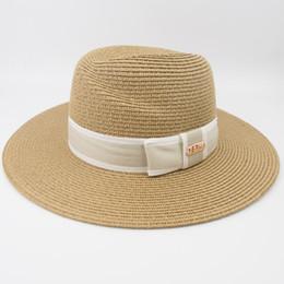 Paper Straws Hats NZ - Professional Hat Wholesaler 2019 100% paper straw Women's Panama Hat Vintage Wide Brim Ladies Summer Beach Outdoor Fashion HAT MH1839