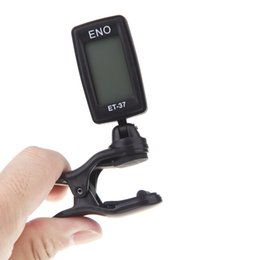 eno guitar tuner Canada - ENO ET-37 LCD Clip-on Tuner Electronic Guitar Tuner Chromatic Bass Violin Ukulele Wind Instrument Universal