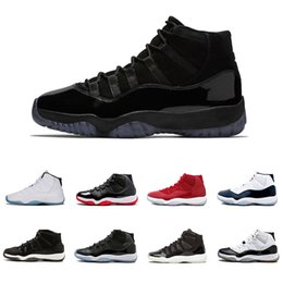 Discount shoes Cap and Gown 11 XI 11s PRM Heiress Black Stingray Gym Red Chicago Midnight Navy Space Jams Men Basketball Shoes sports Sneaker