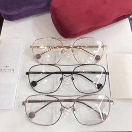 oem metal case NZ - High-qualityGG1116 fashional metal big-rim frame star-style prescription glasses 54-17-146 gold silver black fullset case OEM factory outlet