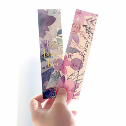 Chinese  30pcs box Fresh Flower Bookmark Gift Book Marks Stationery Cute Marque Page School Supplies Friend Gift manufacturers