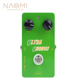 guitar pedal caline NZ - NAOMI Guitar Effect Pedal Caline Pedal CP-28 Guitar Pedal Ultra Chorus Aluminum Alloy Housing True Bypass Guitar Parts Accessories New