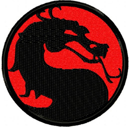 Fighting Australia - Motal Kombat Brutal Street Fighting Video Game Dragon Custom and Unique Iron or Sew on Patch Iron on Clothing Vest Parch Free Shipping