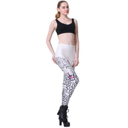 China Elastic Casual Pants 3D Digital Printing Red-eyed leopard Pattern Women Leggings 7 sizes Fitness Clothing Free Shipping cheap leopard shipping suppliers