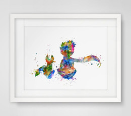 China The Lile Prince Fox Inspired Design Watercolor Nursery Art Print Le Petit Prince Wall Decor Art Friend Wall Hanging AP081 cheap painting designs paper suppliers