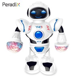 Dancing Robot 2020 Creative Music Robot Decor Educational Beautiful White Music Shiny LED Toy Birthday Gifts on Sale